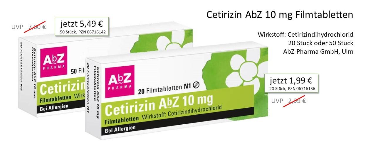 Angebot Cetirizin